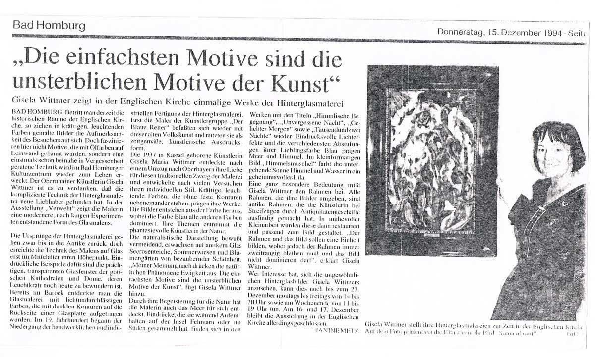 Len Bad Homburg press review gisela wittmer